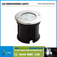 YJD-0004 High power PF0.9 RGB 3W waterproof IP67 underground LED recessed floor light