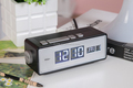 Battery Operated Table Time Clock With Calendar