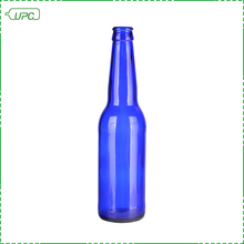 New style empty blue glass 300ml beer wine bottle glass