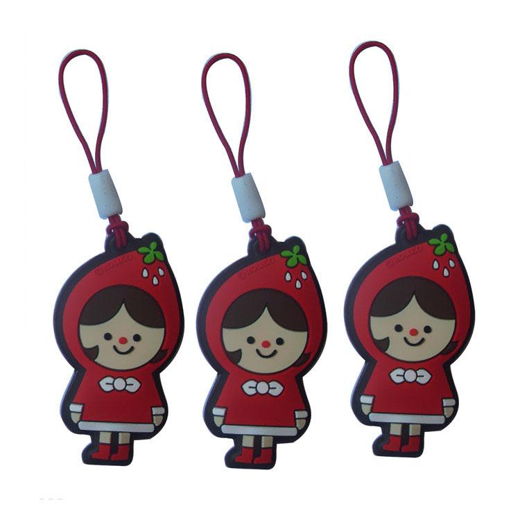 Nuevas ideas de fábrica de 2d de pvc suave encanto del teléfono móvil forma Navidad regalos de promoción - ANKUX Tech Co., Ltd