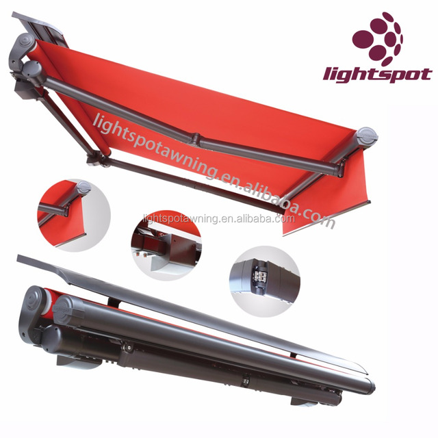 Outdoor Automatic Half Cassette Retractable Awnings