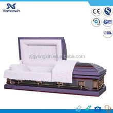 Chinese funeral purple steel caskets(YXZ-1806)