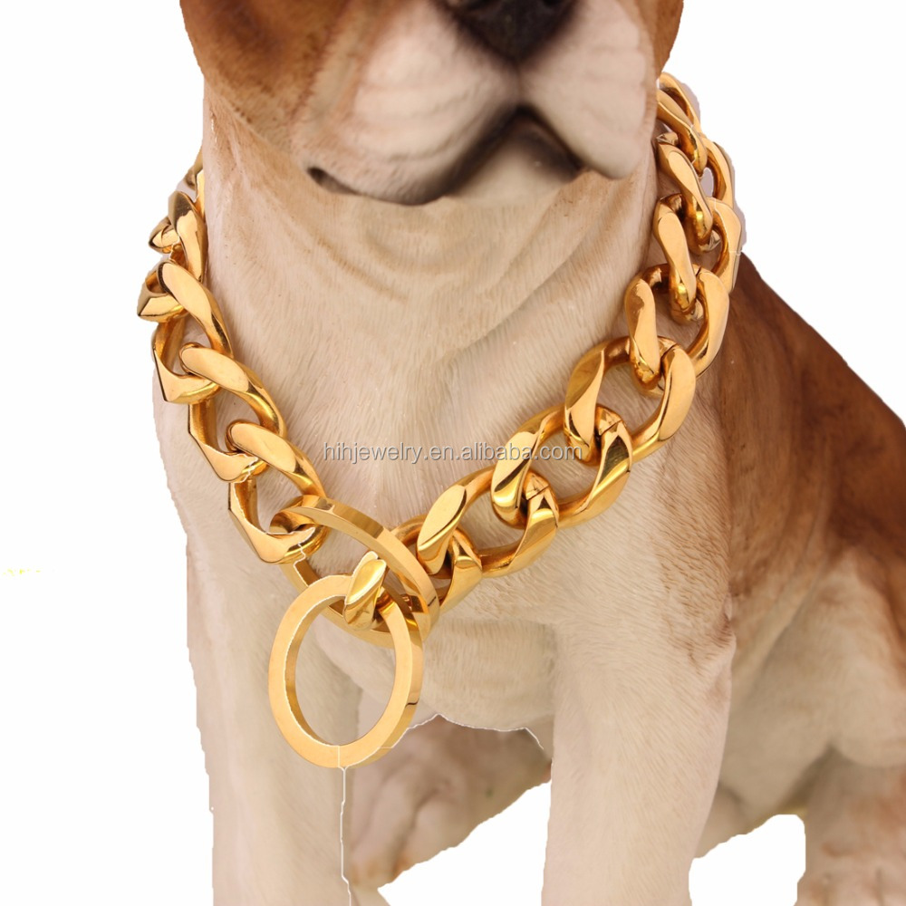 19 mm stainless steel 316L dog collar bulk pet chain product
