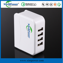 ul,eu plug manufacture approved 4-Port Quick Charger USB Multi Port USB Wall Charger