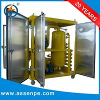 High efficiency double stage vacuum transformer oil refinery