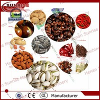 50kg/hr gas coated peanut roaster/roasting machine