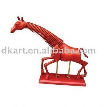 Promotion Trendy Wooden Little Models Decoration Articulated Poseable Wooden Elephant craft Manikins For Giraffe Manikins craft