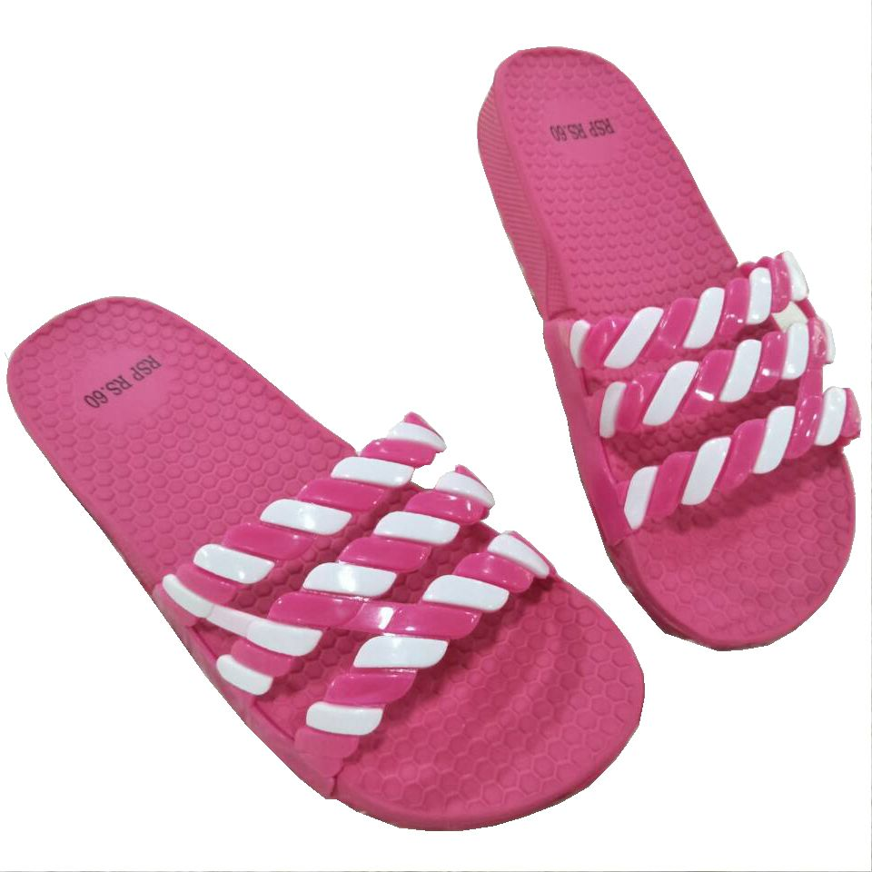 Beach Use and PVC Upper Material EVA Outsole Beach Flip Flops Ladies Flip Flops Wholesale Sliders Slippers Size Range 35~40#