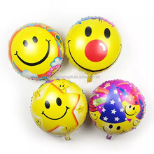 wholesale 18inch emoji smile face helium foil self inflating balloons
