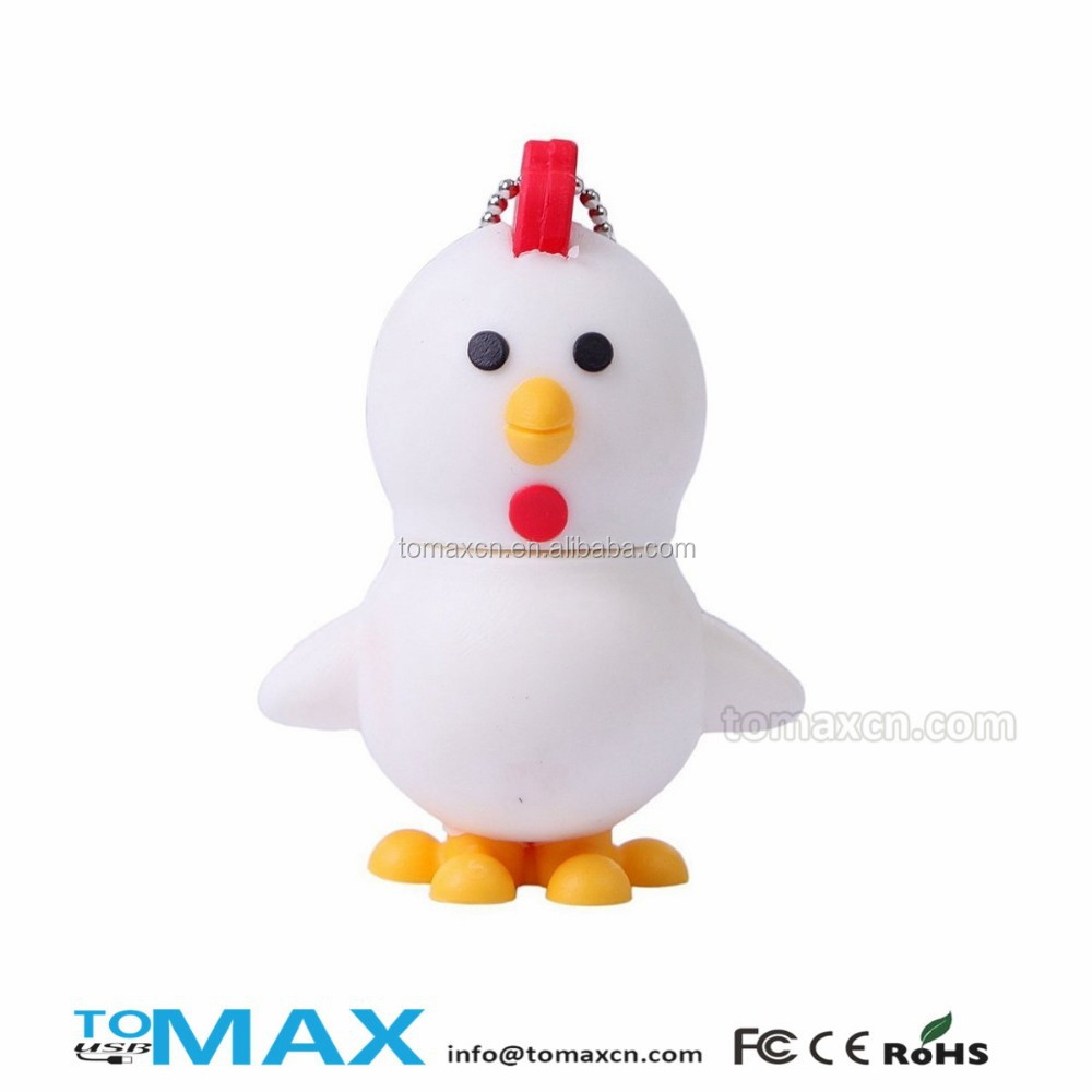 Free sample free shipping cartoon chicken fast usb flash discs wholesale