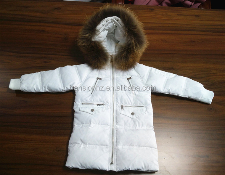 New Fashion Real Fur winter jackets for children Duck Down Jacket Stock