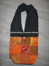 Indian Ethnic Handmade Embroidered Shoulder Bag with Resham & Mirror Work