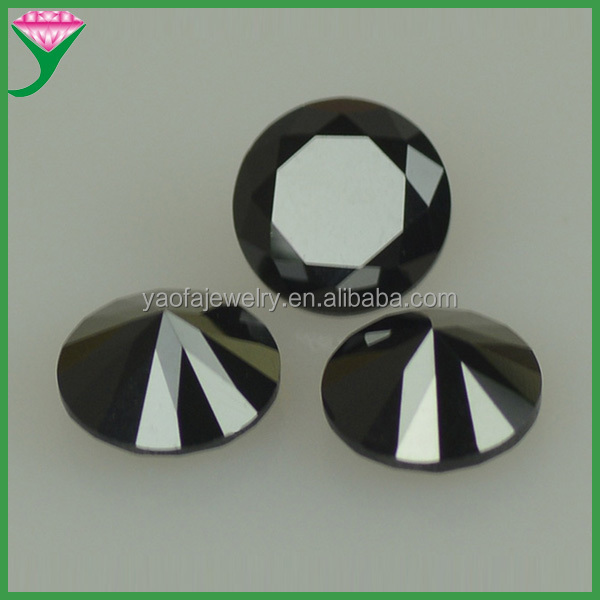 low price loose round nano black spinel industrial black diamonds wholesale