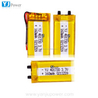Alibaba high quality 3.7v 160mah with yj 401730 160mah lithium polymer battery