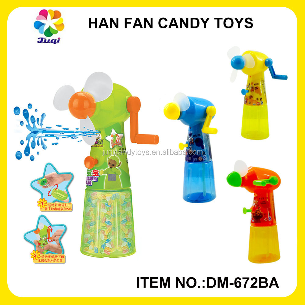 Guangdong suppliers wholesale cute hand fan candy filled toys for girl and boy