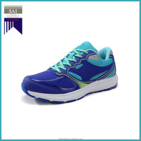 Blue PU Upper Rubber Sole Mesh Lining Sport Shoes Trainers Men