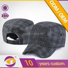 unisex fitted working fitted quadrille plaid hat