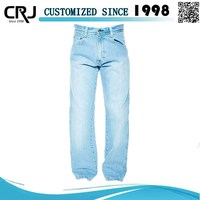 OEM Service Straight Denim Pants damaged jeans