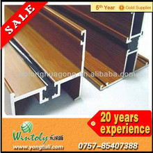 Wood effect aluminium powder coating paint