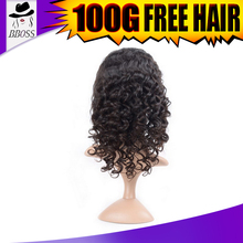 Hot selling natural white short curly hair wigs