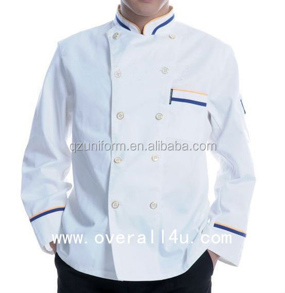 8 Button 3/4 Length Sleeve 100% Cotton Chef Uniform Coat