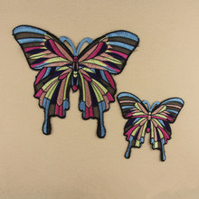 butterfly badge patch hot melt adhesive applique embroidery patches stripes clothing accessory patch