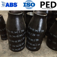 butt welded SCH40 carbon steel pipe fitting with PED certificate