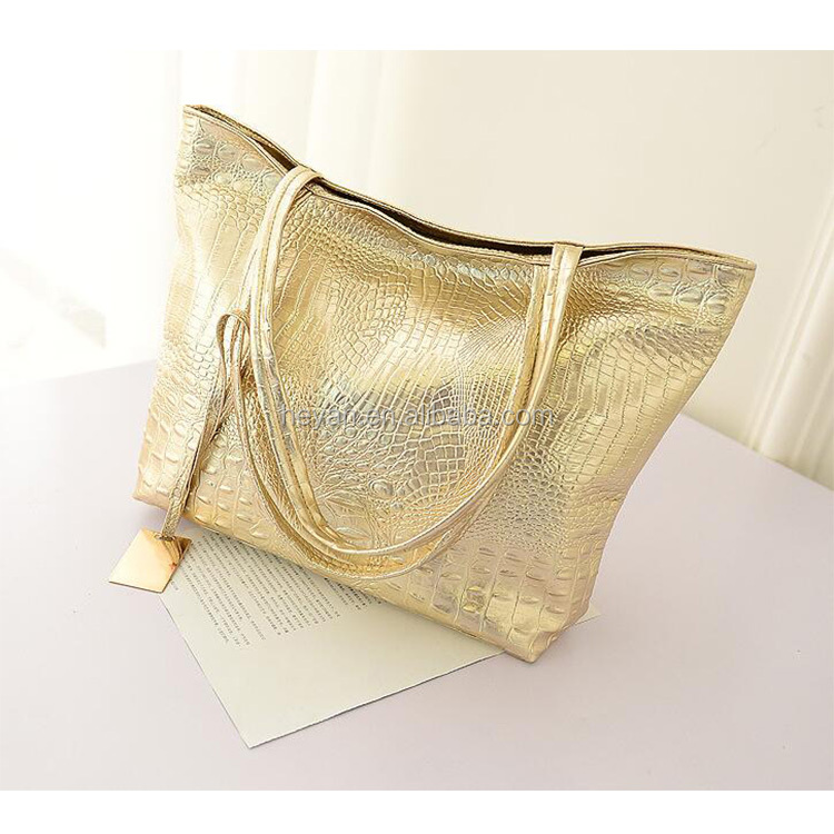 Fashion Newest Ladies Girls Women Shining Leather Handbags