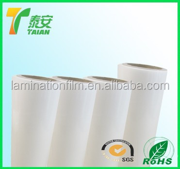 bopp thermal film/17Micron 25micorn BOPP thermal lamination film for book covers,booklets, leaflets,wine box made in china 2015