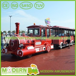 Modern Amusement Adult Track Electric Tourist Train For Sale