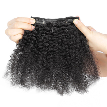 Cheap 100% human hair afro kinky curly clip in hair extensions