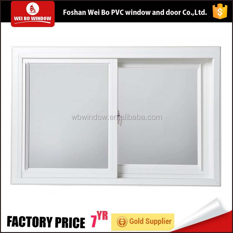 Cheap price small size pvc/upvc frosted glass sliding window for bathroom