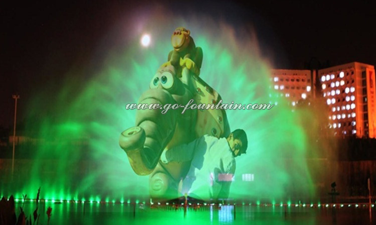 Laser Holographic Projector Water Screen Movie Musical Fountain