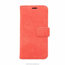 For iphone 8 case, free sample Retro lines PU leather smartphone case card holder stand for iphone 8 phone case
