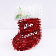 Huandi Custom Christmas Decoration White Elf Stockings Ornament Hanging Decoration