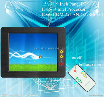 17'' Rugged panel PC with resistive touch screen I7 Processor