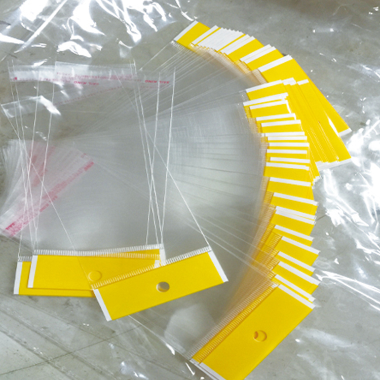 Factory Wholesale Maminated Material Plastic Self Adhesive Bag, OPP/CPP Self-Adhesive Header Bag/