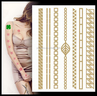 Metallic Temporary Tattoos - Beautiful Tattoo Flash & Body Art - Black, Silver & Gold Tattoo