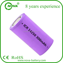 3.7v 10180 14250 icr14430 li-ion rechargeable battery