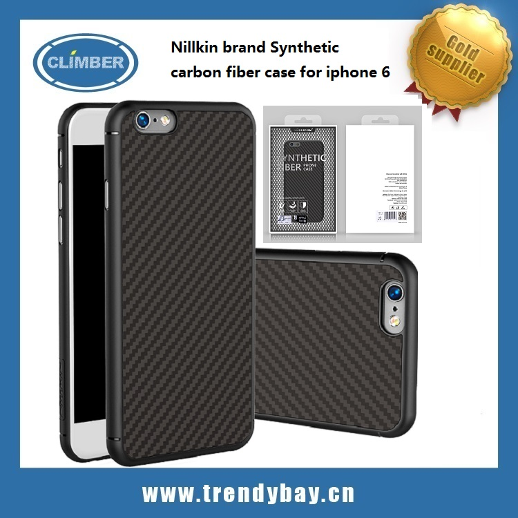 2016 new model Nillkin brand Synthetic carbon fiber case for iphone 6