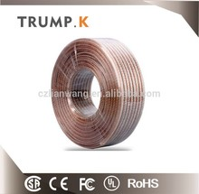 Transparent pure copper 12AWG speaker wire PVC insulated best speaker wire