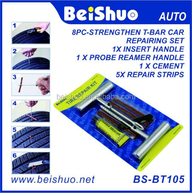 china factory price High quality stain steel handle tubeless tire repair kits/Car auto flat tire repair tools
