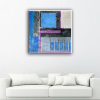 Beautiful canvas abstract frame pattern art painting themes with low price