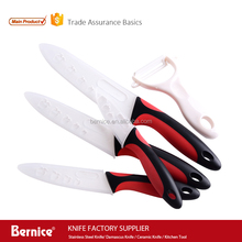 ceramic knife set 5 pcs non-stick coating knife set cutlery chef kitchen knives with sheath