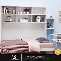 Modern Double Size Wood Foldable Italian Furniture Side Bed