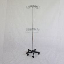 Promotional metal hanging shelves/rotating display stands supermarket shelf