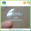 Printing Waterproof Sticky Label Clear Pvc