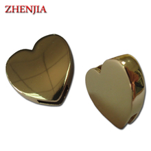 Custom Zinc Alloy Metal Engraved Logo Beads Charm for decoration of bags and garments