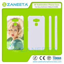 Whole sell 3D blank sublimation case phone cover back cover for Asus zenfone 3 max ZC553KL