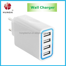 Multiple USB Wall Cell Phone Charger AC to DC 5v 5.6A 28Watt 4 usb port for home and travel